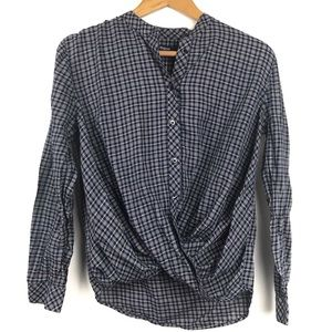 Madewell Front Knot Blouse